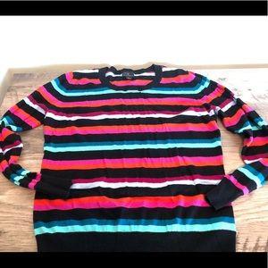 Bright striped sweater